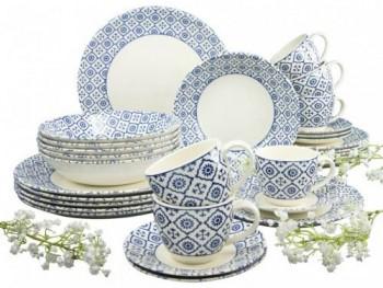 Creatable-Kombiservice-Oriental-blue-Steingut-Set-30-teilig-0