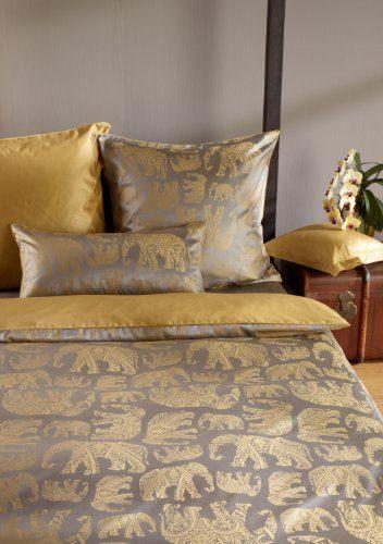 curt bauer edle mako brokat damast bettw sche mumbai messing 135x200 cm 80x80 cm online kaufen. Black Bedroom Furniture Sets. Home Design Ideas