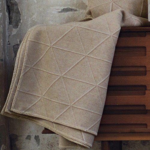 David-Fussenegger-Wohndecke-Sylt-Dreiecke-beige-140-x-200-cm-Flanell-Baumwollmischung-418680-0