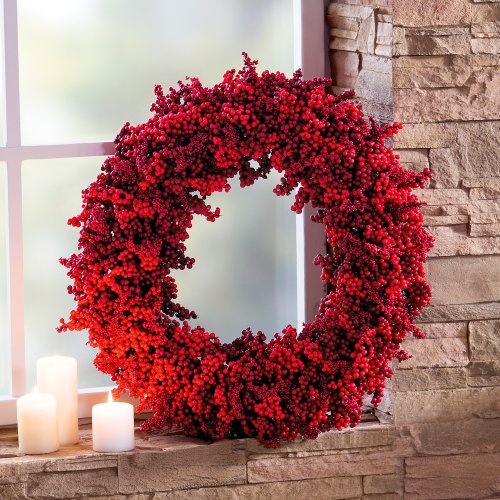 decorative advent wreath red berries approx 52 cm online kaufen bei woonio. Black Bedroom Furniture Sets. Home Design Ideas