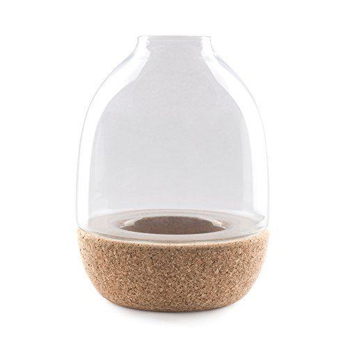Enrico-Zanolla-VAPT22CC-Pitaro-Glas-und-Kork-Vase-klarglas-0