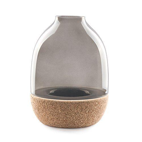 Enrico-Zanolla-VAPT22SC-Pitaro-Glas-und-Kork-Vase-rauchglas-0