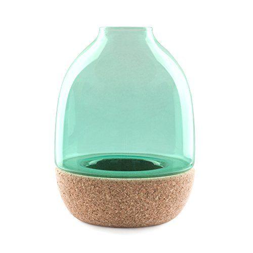 Enrico-Zanolla-VAPT22TC-Pitaro-Glas-und-Kork-Vase-trkis-Glas-0