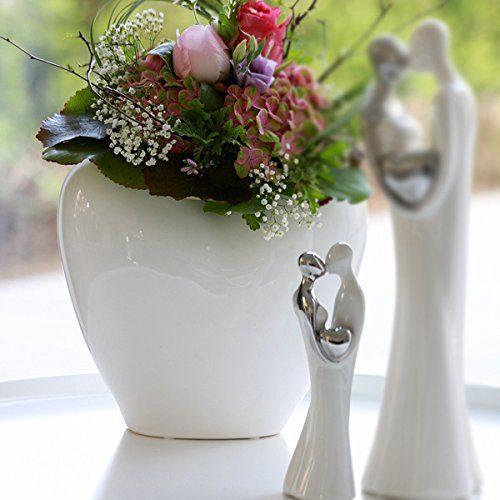Figur-Loving-weisssilber-Keramik-Hhe-20-5cm-0