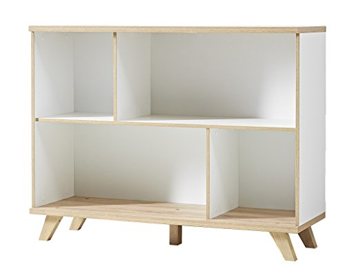germania 3267 221 regal gw oslo 120 x 91 x 40 cm wei. Black Bedroom Furniture Sets. Home Design Ideas