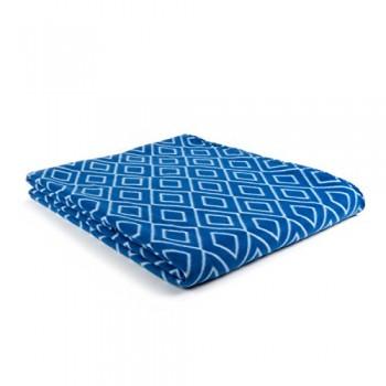 Goldmond-Home-4001626019618-Wohn-und-Kuscheldecke-Tagesdecke-Fleecedecke-Rhombus-Raute-Tne-150-x-200-cm-blau-0