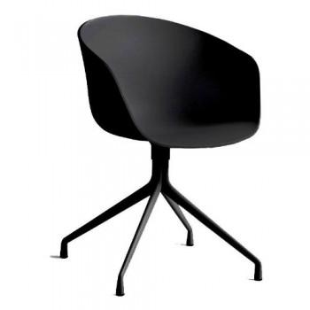 HAY-About-a-Chair-20-Drehstuhl-mit-Armlehnen-schwarz-Gestell-aluminium-pulverbeschichtet-schwarz-mit-Kunststoffgleitern-0