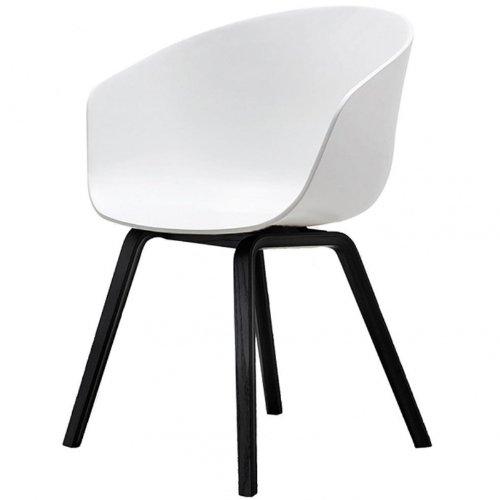 hay about a chair armlehnstuhl wei gestell esche gebeizt schwarz online kaufen bei woonio. Black Bedroom Furniture Sets. Home Design Ideas