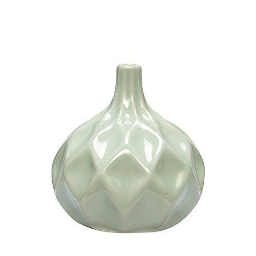 HBSCH-648000-Vase-mit-Muster-10x11cm-Keramik-Farbehellgrn-0