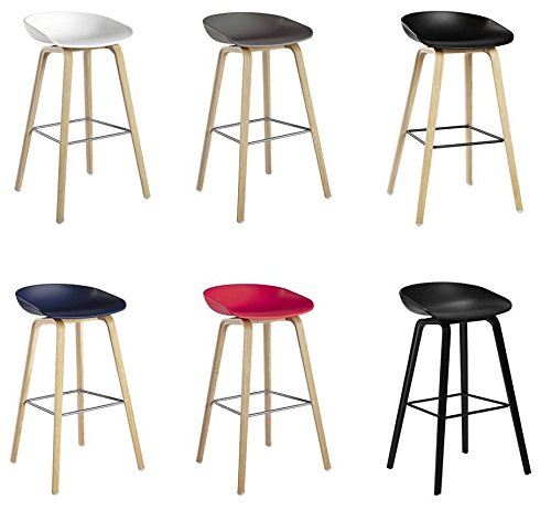 hay about a stool aas 32 schwarz hay barhocker 65cm eichenholz vierbeingestell sitzschale. Black Bedroom Furniture Sets. Home Design Ideas