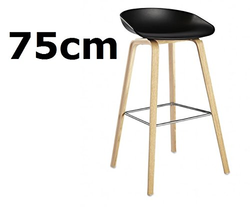 hay about a stool aas 32 hay barhocker 75cm eichenholz vierbeingestell sitzschale. Black Bedroom Furniture Sets. Home Design Ideas