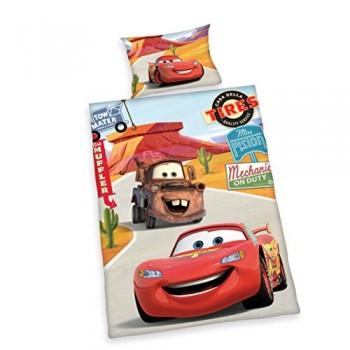 Herding-2629060063-Bettwsche-Disneys-Cars-Kopfkissenbezug-40-x-60-cm-und-Bettbezug-100-x-135-cm-flanell-biber-0