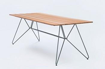 Houe-dk-Sketch-dining-table-220-Tisch-220-cm-String-Bambus-holzplatten-lamellen-bamboo-frher-String-Table-in-und-outdoor-design-Henrik-Pedersen-Dnemark-Rund-Stahl-gestell-Esstisch-Kchentisch-Speisezim-0
