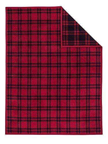 IBENA-3590400-Wohndecke-Messina-150-x-200-cm-rot-schwarz-0
