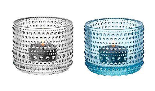 Iittala-Kastehelmi-klar-hellblau-Leuchter-2-Stk-0