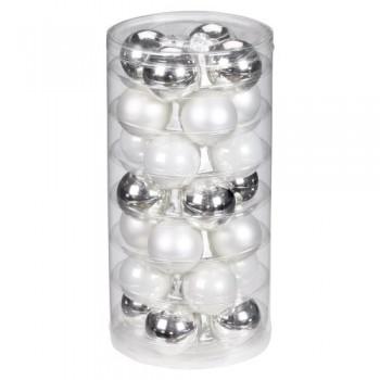 Inge-glas-19000D002-Kugel-45-mm-28-StckDose-silber-glanz-wei-matt-porzellanwei-0