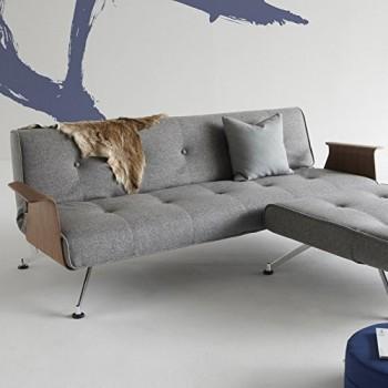 Innovation-Schlafsofa-mit-Chrombeinen-und-Armlehnen-Clubber-Textil-grau-0