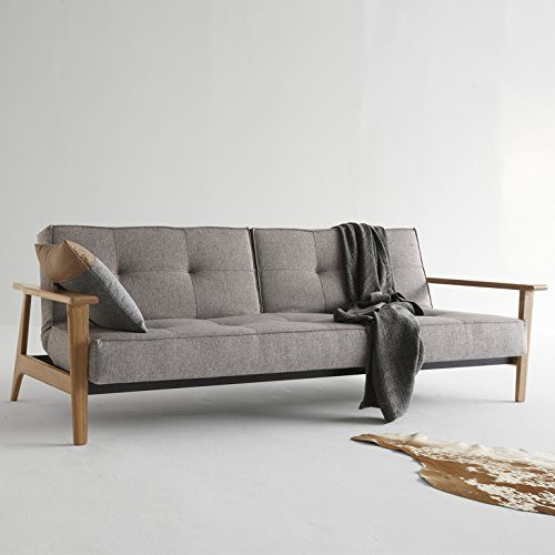 Innovation-Schlafsofa-mit-Holzbeinen-und-Armlehnen-Splitback-Frej-Textil-grau-0