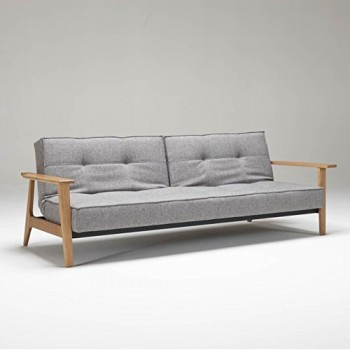Innovation-Splitback-Frej-Schlafsofa-grau-Gestell-Holz-Bezug-Dess-521-Grau-Mixed-Liegeflche-115-x-210cm-0
