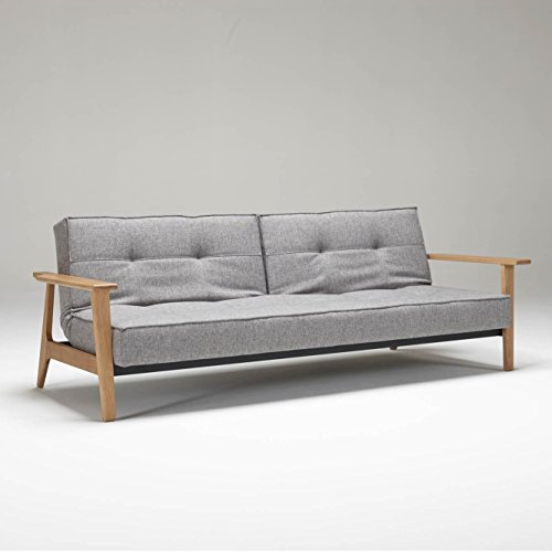 innovation splitback frej schlafsofa grau gestell holz. Black Bedroom Furniture Sets. Home Design Ideas