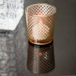 Insideretail-700561SET12-Glas-Teelichthalter-Satz-von-12-4-Zoll-golddiamant-0-1