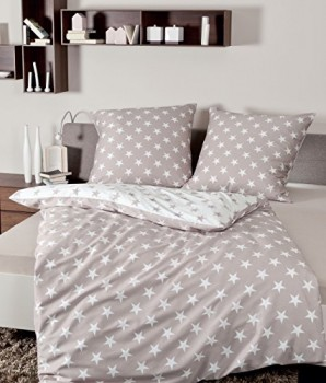Janine-Bettwsche-DAVOS-Art-6466-Gre-135-x-200-80-x-80-Farbe-07-taupe-0