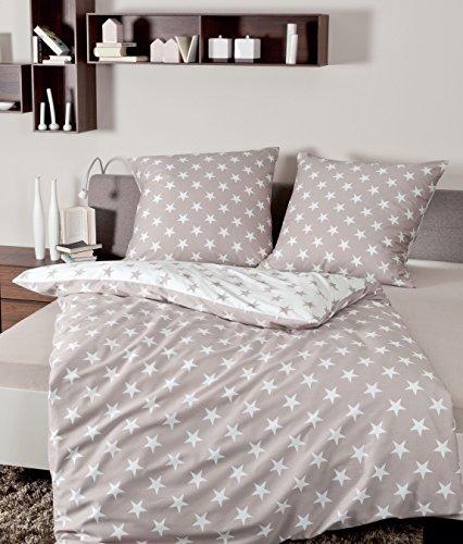 janine feinbiber bettw sche davos taupe 155 x 200 cm 80 x 80 cm online kaufen bei woonio. Black Bedroom Furniture Sets. Home Design Ideas