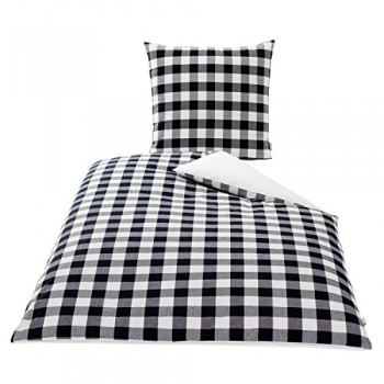 KBT-Cotton-Plus-4001626017874-Bettwsche-Set-Garnitur-Nereid-Karo-80-x-80-cm-135-x-200-cm-schwarz-grau-wei-0