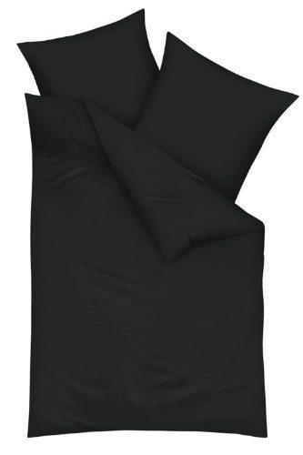 Kaeppel-G-130006-40D4-VA97-Uni-Bettwsche-Satin-2-x-8080-und-200200-cm-schwarz-0