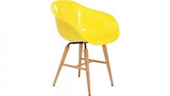 Kare-76417-Stuhl-mit-Armlehne-Forum-Wood-Yellow-0