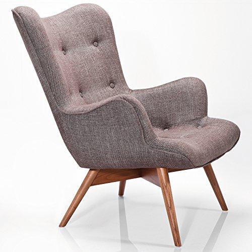 kare design sessel textil mit armlehnen retro angels wings rhythm braun online kaufen bei woonio. Black Bedroom Furniture Sets. Home Design Ideas