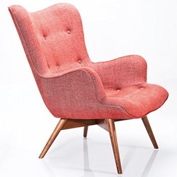 Kare-Design-Sessel-Textil-rot-mit-Armlehnen-Retro-Angels-Wings-Rhythm-Karmin-0