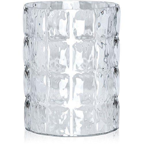 Kartell-1225B4-Vase-Matelasse-30-x-23-cm-glasklar-0