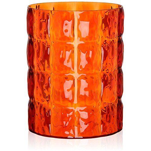 Kartell-1225MA-Vase-Matelasse-30-x-23-cm-orange-0