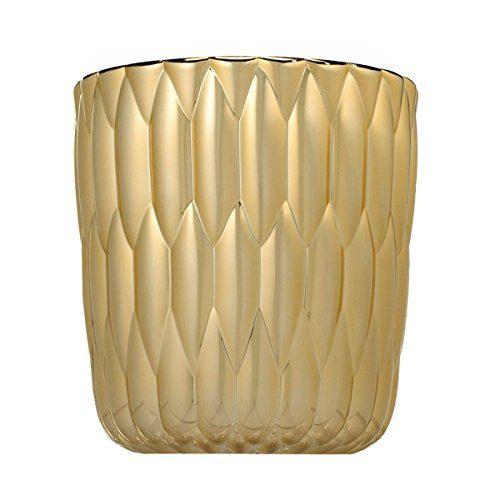 Kartell-1228GG-Vase-Jelly-metallisiert-25-x-235-cm-gold-0