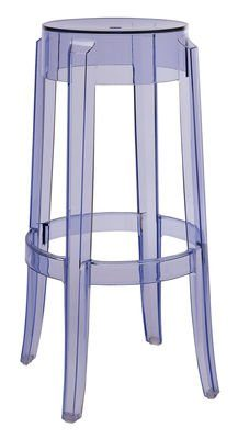 Kartell-4899P2-Hocker-Charles-Ghost-75-cm-hoch-blau-0