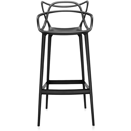 kartell masters bar 5868 09 bar stool with armrests designed by philippe starck black online. Black Bedroom Furniture Sets. Home Design Ideas
