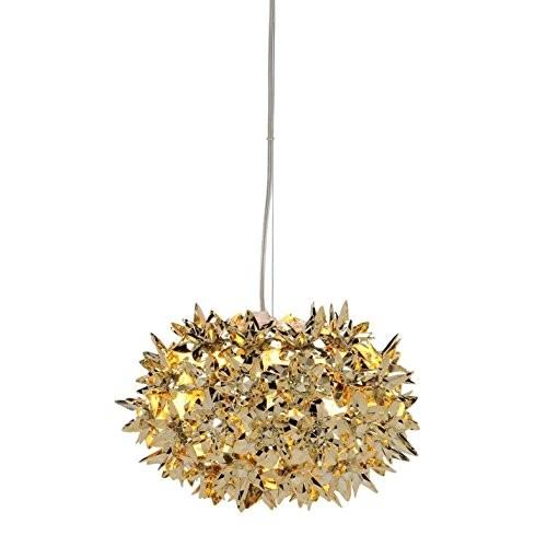 Kartell-Bloom-Kugel-S2-Pendelleuchte-gold-glnzend-0
