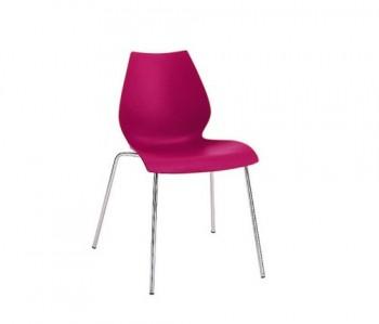 Kartell-Stuhl-Maui-Stuhl-fuchsie-Vico-Magistretti-Polypropylen-Stahl-Esszimmerstuhl-Kchenstuhl-Speisezimmerstuhl-0