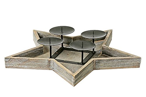 kerzenleuchter stern 4er d41cm material blauglockenbaum. Black Bedroom Furniture Sets. Home Design Ideas