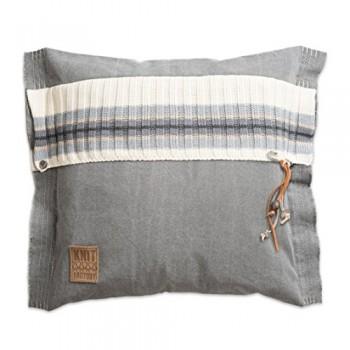 Knit-Factory-041211-Dekokissen-Strickkissen-Julia-50-x-50-cm-grau-mit-Fllung-0