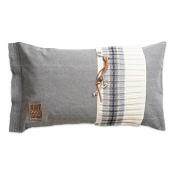Knit-Factory-041311-Dekokissen-Strickkissen-Julia-60-x-40-cm-grau-mit-Fllung-0