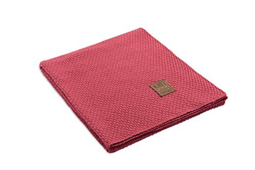 Knit-Factory-091130-Strickdecke-Plaid-Jesse-130-x-160-cm-framboise-0