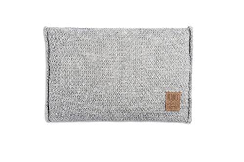 knit factory 091311 dekokissen strickkissen jesse mit f llung 60 x 40 cm grau online kaufen. Black Bedroom Furniture Sets. Home Design Ideas