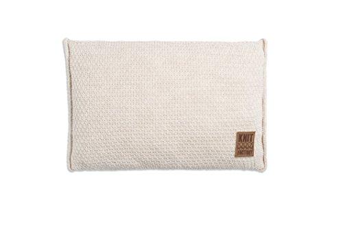 knit factory 091312 dekokissen strickkissen jesse mit f llung 60 x 40 cm beige online kaufen. Black Bedroom Furniture Sets. Home Design Ideas