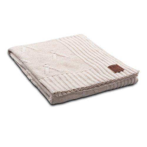 Knit-Factory-101112-Strickdecke-Plaid-Aran-130-x-160-cm-beige-0