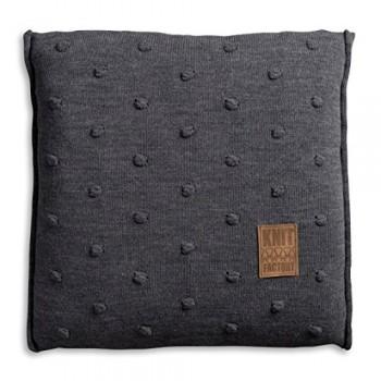 Knit-Factory-1071210-Dekokissen-Strickkissen-Noa-mit-Fllung-50-x-50-cm-antra-0
