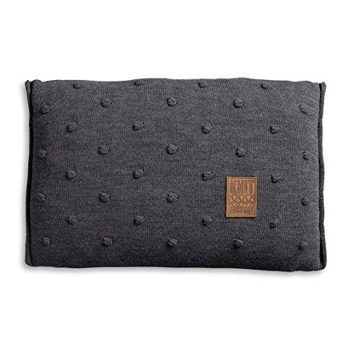 knit factory 1071310 dekokissen strickkissen noa mit f llung 60 x 40 cm antra online kaufen. Black Bedroom Furniture Sets. Home Design Ideas
