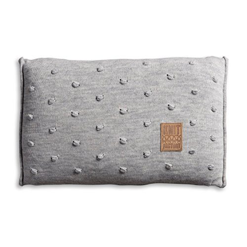 Knit-Factory-1071311-Dekokissen-Strickkissen-Noa-mit-Fllung-60-x-40-cm-grau-0