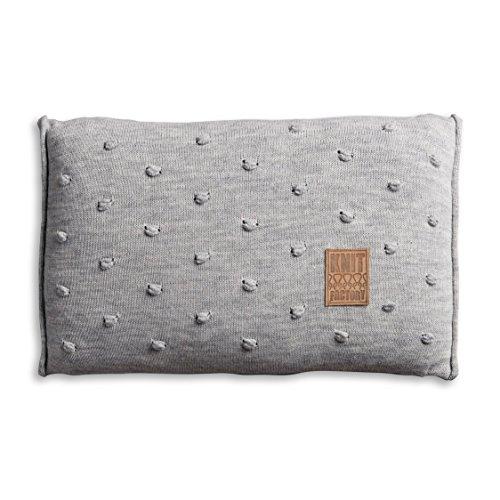 knit factory 1071311 dekokissen strickkissen noa mit f llung 60 x 40 cm grau online kaufen bei. Black Bedroom Furniture Sets. Home Design Ideas